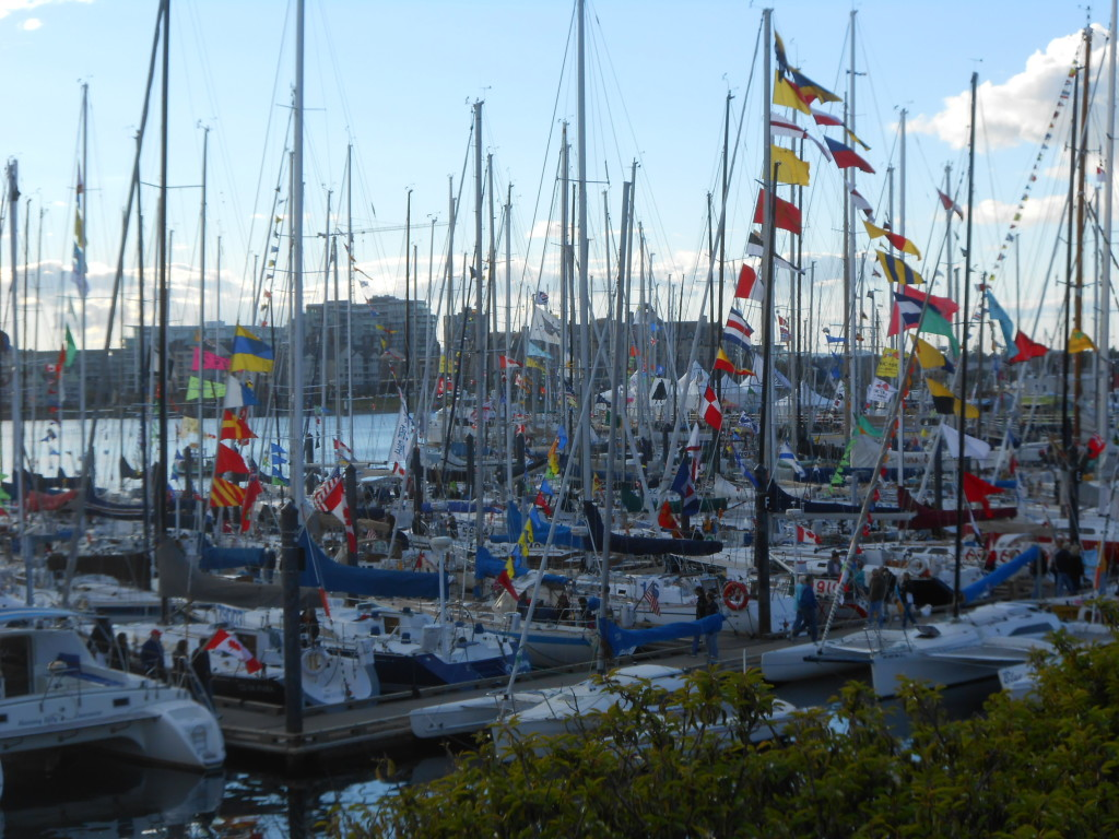 Yachts and crews waiting prior to the Swiftsure race.  Photo by Ian & Josie Byington