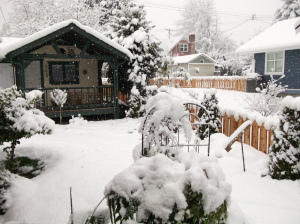 Snow in Chemainus, Croft and Saltair