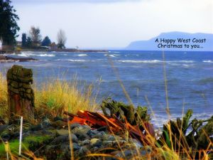 Chritmas card scene taken in Quaicum Beach, Bowser, Lighthouse Country, Bc